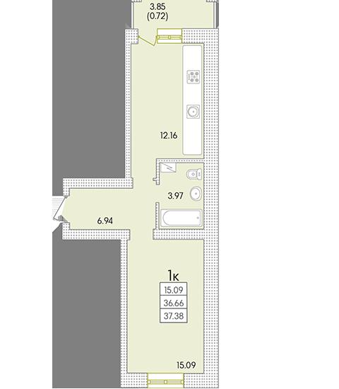 Планировки 1-комнатных квартир от 32 118 $